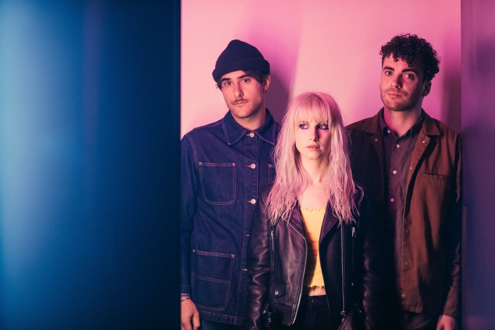 From left: Zac Farro, Hayley Williams and Taylor York of Paramore, in Nashville, Tenn.